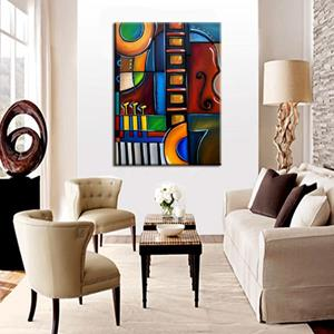 Detail Image for art Cubist 122 3040 W Original Cubist Art Cello Again