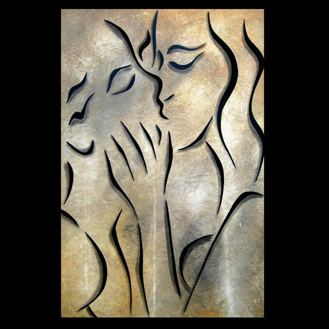 Art: abstract 428 2436 Original Abstract Art Simple Kiss by Artist Thomas  C. Fedro