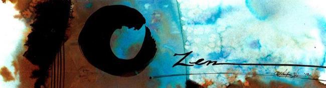 Art: Enso Zen circle No. 3 by Artist Kathy Morton Stanion
