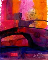 Art: Watercolor Abstraction 11 by Artist Kathy Morton Stanion