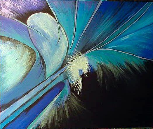 Art: BLUE ANGEL by Artist Dia Spriggs