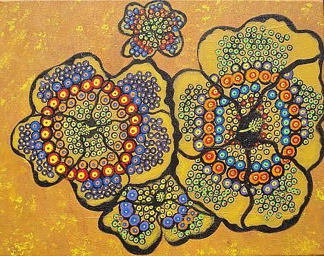 Art: Rainbow Hibiscus by Artist Juli Cady Ryan