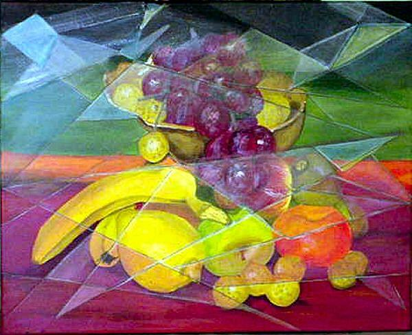 Art: Fractal Fruit by Artist Dia Spriggs