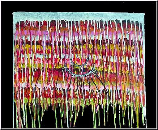 Art: Indian Lace by Artist Dia Spriggs