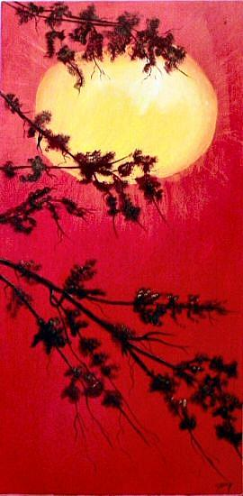 Art: Oriental Sunset by Artist Dia Spriggs