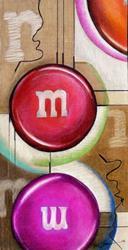 Art: M&Ms Breaking Tension by Artist Alma Lee