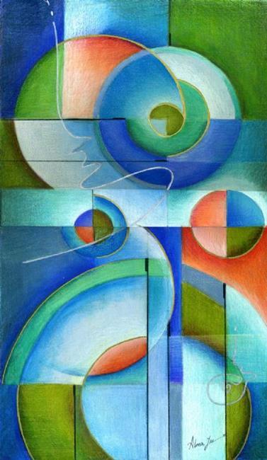 Art: Abstract Harmony by Artist Alma Lee