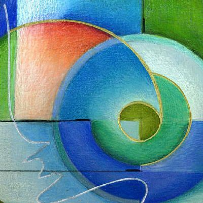 Abstract Harmony - by Alma Lee from Contemporary Cubism Art