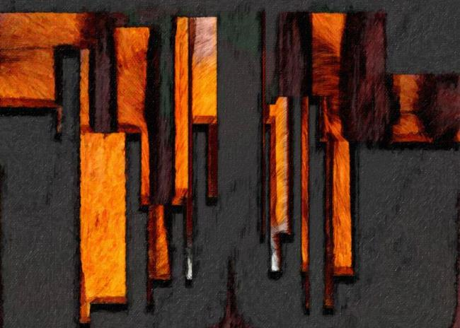 Art: Cityscape Abstract by Artist Deanne Flouton