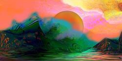 Art: Eden Rising by Artist Alma Lee