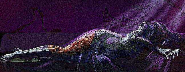 Art: Seduction of Boaz by Artist Alma Lee