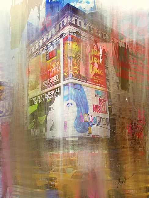 Art: New York Corner by Artist Alma Lee