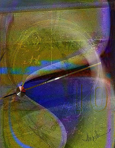 Art: Psychedelic Orb: the Pendulum Swings by Artist Alma Lee