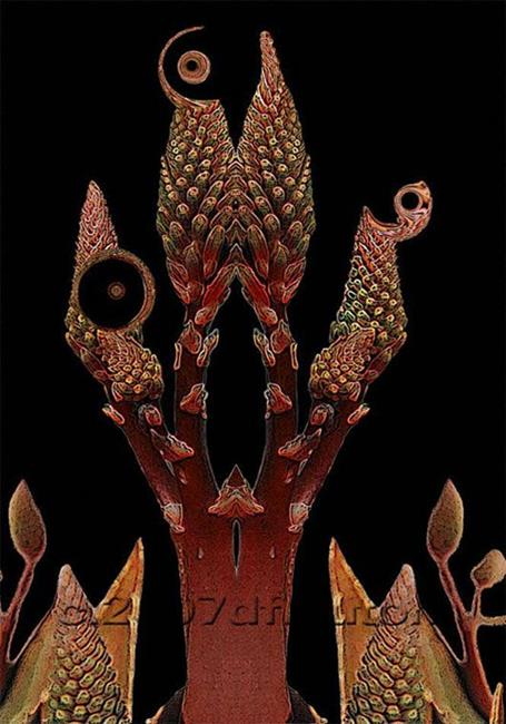 Art: Black Aloe - sold- by Artist Deanne Flouton