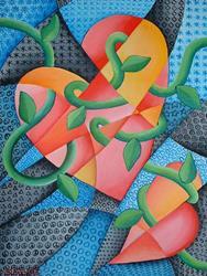 Art: Two Hearts by Artist Lindi Levison