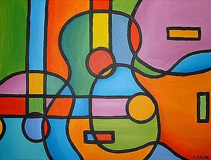 Guitar Medley - by Lindi Levison from Abstract Representational Art ... Easy Designs To Draw For Kids