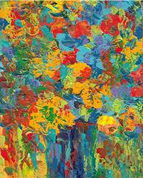 Art: Abstract Flower Bouquet - sold by Artist Ulrike 'Ricky' Martin