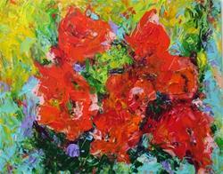 Art: Wild Roses by Artist Ulrike 'Ricky' Martin