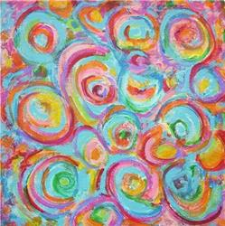 Art: Circles in Pink by Artist Ulrike 'Ricky' Martin