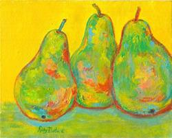 Art: Abstract Pears by Artist Ulrike 'Ricky' Martin