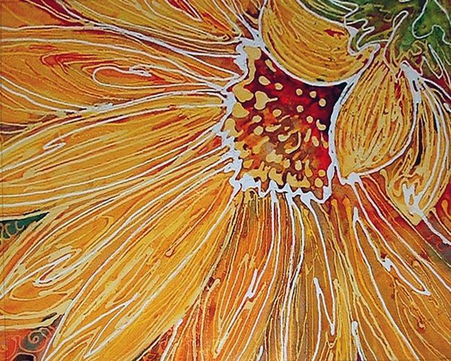 Art: BATIK SUNFLOWER by Artist Marcia Baldwin