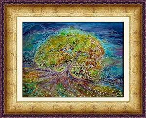 Detail Image for art TREE OF LIFE BATIK IV