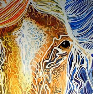 Detail Image for art EQUUS TRIO BATIK