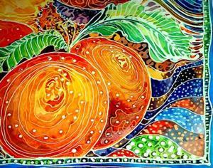 Detail Image for art PEACHES BATIK I