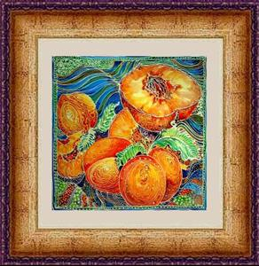 Detail Image for art PEACHES BATIK I