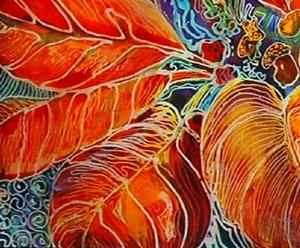 Detail Image for art POINSETTIA BATIK