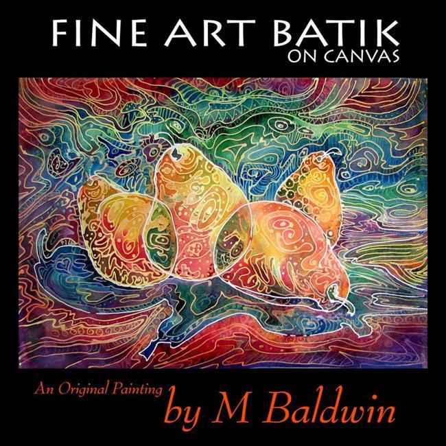 Art: 4 PEAR BATIK by Artist Marcia Baldwin