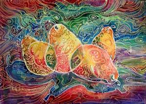 Art 4 Pear Batik From Exhibit Entries By Artist Marcia