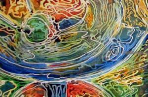 Detail Image for art MARTINI TIME ~ A FINE ART BATIK