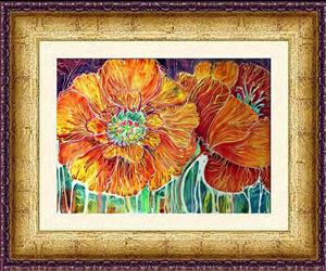 Detail Image for art POPPIES BATIK ABSTRACT
