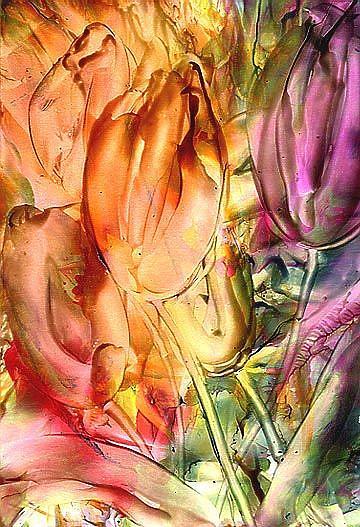 Art: Tulips # 12  by Artist Ulrike 'Ricky' Martin
