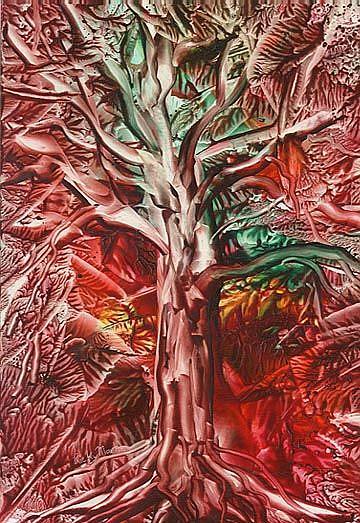 Art: AUTUMN TREE by Artist Ulrike 'Ricky' Martin