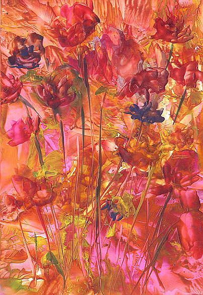 Art: ABSTRACT FLORAL by Artist Ulrike 'Ricky' Martin