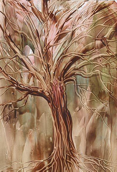 Art: WINTER TREE - sold by Artist Ulrike 'Ricky' Martin