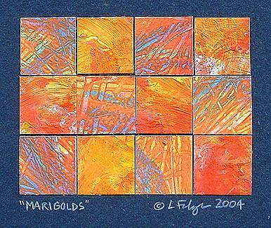 Art: Marigolds by Artist Lindi Levison