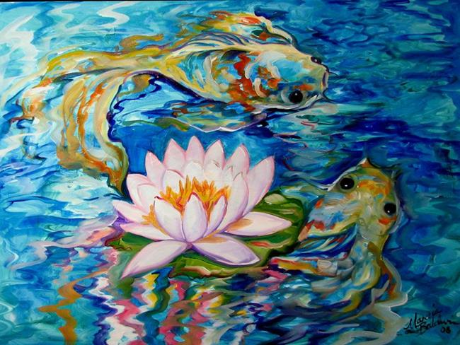 Koi fish painting abstract for Koi fish water