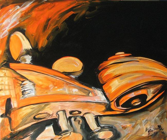 MUSIC ABSTRACT VIOLIN - by Marcia Baldwin from Abstracts