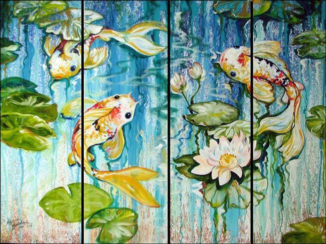 Art: KOI on FOUR by Artist Marcia Baldwin