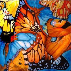 Art: ABSTRACT BUTTERFLIES by Artist Marcia Baldwin