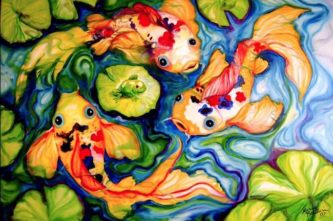 Art: KOI TOY by Artist Marcia Baldwin