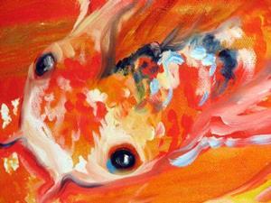 Detail Image for art GOLDEN KOI SWIRL
