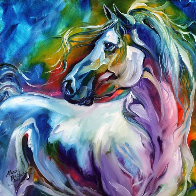 Art: MYSTIC POWER EQUINE ABSTRACT by Artist Marcia Baldwin