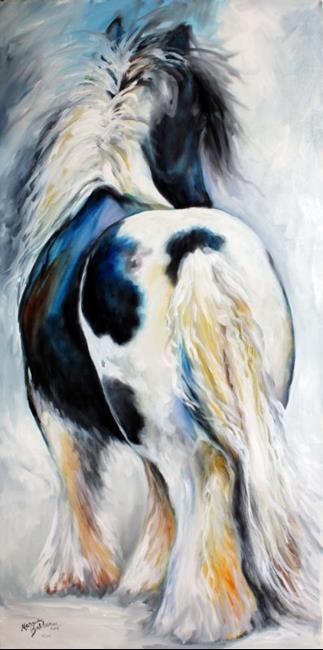 Art: GYPSY VANNER MODERN ABSTRACT by Artist Marcia Baldwin