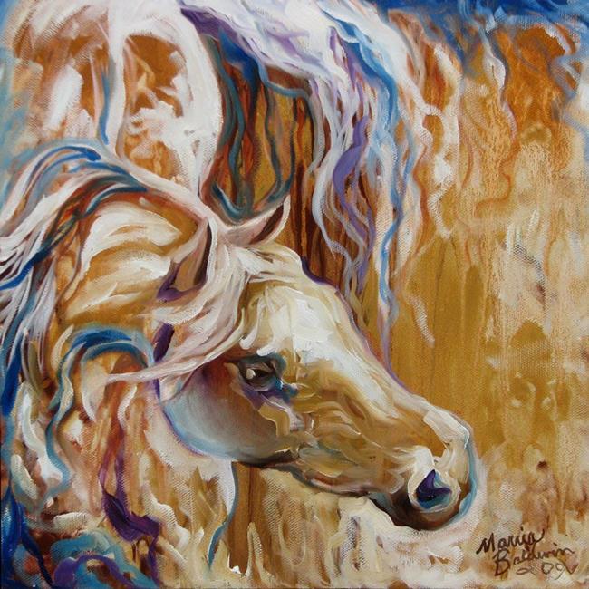 Art: THE GOLDEN EQUINE ABSTRACT by Artist Marcia Baldwin
