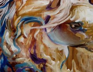 Detail Image for art THE GOLDEN EQUINE ABSTRACT