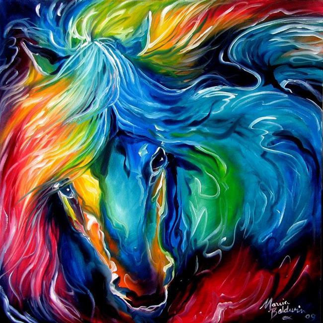 Art: EQUINE LOVE by Artist Marcia Baldwin